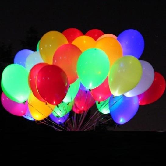 2. Светящиеся гелиевые шары