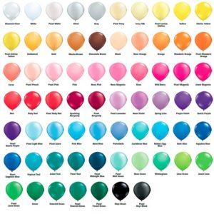 Выбор цвета шаров